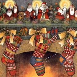 Пазл онлайн: Рождественские подарки