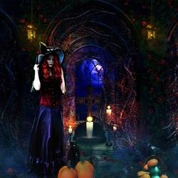 Пазл онлайн: Ночь Хэллоуина