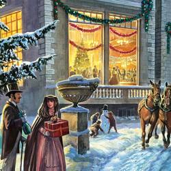 Пазл онлайн: Торжественное Рождество