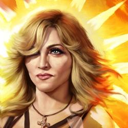 Пазл онлайн: Мадонна