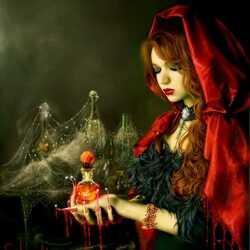 Пазл онлайн: Кровавая леди