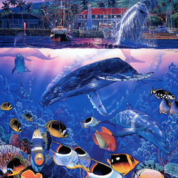 Пазл онлайн: Под водой и над водой