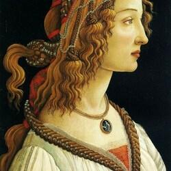 Пазл онлайн: Портрет Симонетты Веспуччи в образе нимфы