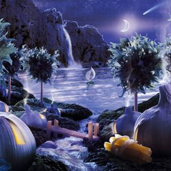 Пазл онлайн: Ночной пейзаж