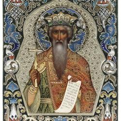 Пазл онлайн: Икона Св.Владимира в серебре