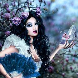Пазл онлайн: Золушка в саду магнолий