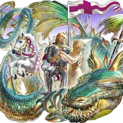 Пазл онлайн: Побежденный дракон