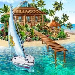 Пазл онлайн: Райский остров