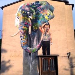 Пазл онлайн: Картины уличных художников