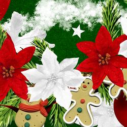 Пазл онлайн: Цветы Рождества