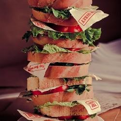 Пазл онлайн: Бутерброд