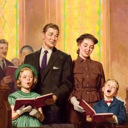 Пазл онлайн: В церкви
