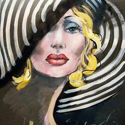 Пазл онлайн: Дама в шляпке