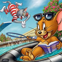 Пазл онлайн: Каникулы Тома и Джерри
