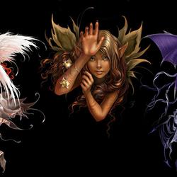 Пазл онлайн: Между Ангелом и Демоном