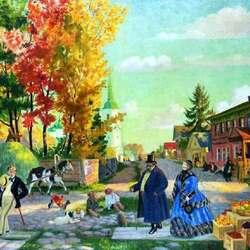 Пазл онлайн: Осеннее гулянье