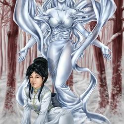 Пазл онлайн: Снежный ангел