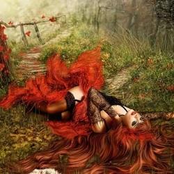 Пазл онлайн: Сказки Красного леса