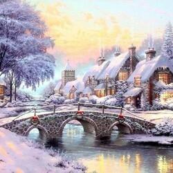Пазл онлайн: Рождественское утро