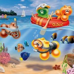 Пазл онлайн: В поисках подводных сокровищ