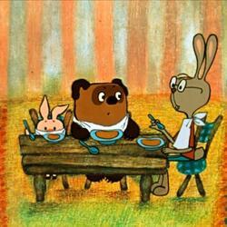 Пазл онлайн: Завтрак у Кролика