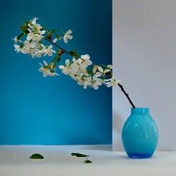 Пазл онлайн: Натюрморт в сине-белом