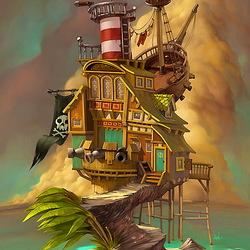 Пазл онлайн: Дом Морского волка