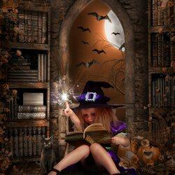 Пазл онлайн: Обучение ведьмочки