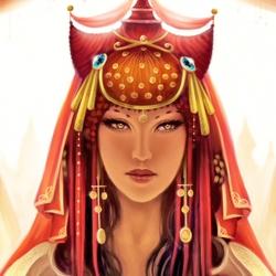 Пазл онлайн: Восточная принцесса