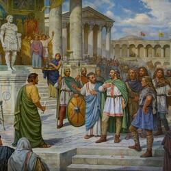 Пазл онлайн: Прием князя Кия в Константинополе в 485 году