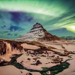 Пазл онлайн: Гора Киркьюфелл, Исландия
