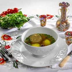 Пазл онлайн: Суп с тефтелями - кюфта-бозбаш