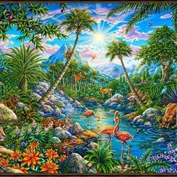 Пазл онлайн: Неизведанный остров