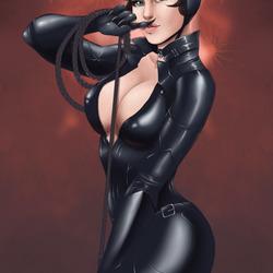 Пазл онлайн: Женщина-кошка