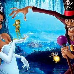 Пазл онлайн: Принцесса и лягушка
