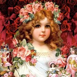 Пазл онлайн: В розовом веночке
