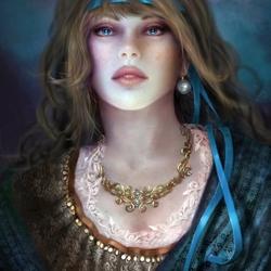 Пазл онлайн: Голубой жемчуг