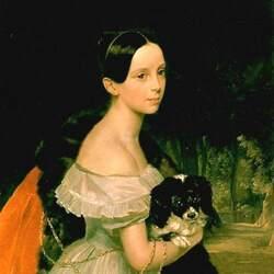 Пазл онлайн: Дама с собачкой У.М.Смирнова