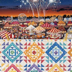 Пазл онлайн: Деревенская ярмарка