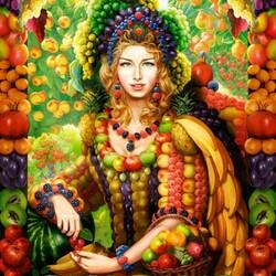 Пазл онлайн: Королева фруктов