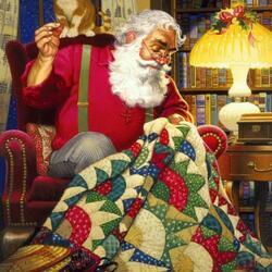 Пазл онлайн: Санта за работой