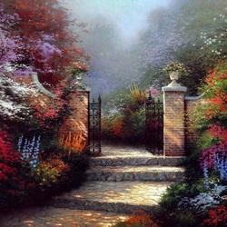 Пазл онлайн: Цветочный сад
