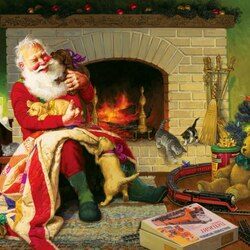 Пазл онлайн: Веселый Санта