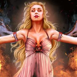 Пазл онлайн: Огонь не может убить дракона