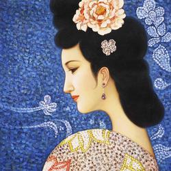 Пазл онлайн: Портрет красавицы
