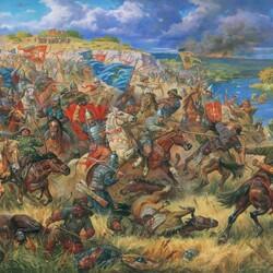 Пазл онлайн: Князь Данила Острожский в битве на Синих Водах