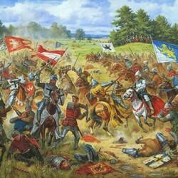 Пазл онлайн: Галицкие хоругви в Грюнвальдской битве 1410 года