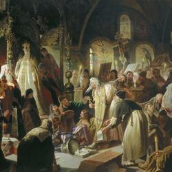 Пазл онлайн: Никита Пустосвят. Спор о вере