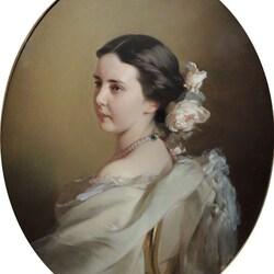Пазл онлайн: Портрет Екатерины Федоровны Тютчевой