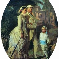 Пазл онлайн: Портрет семьи Черемисиновых